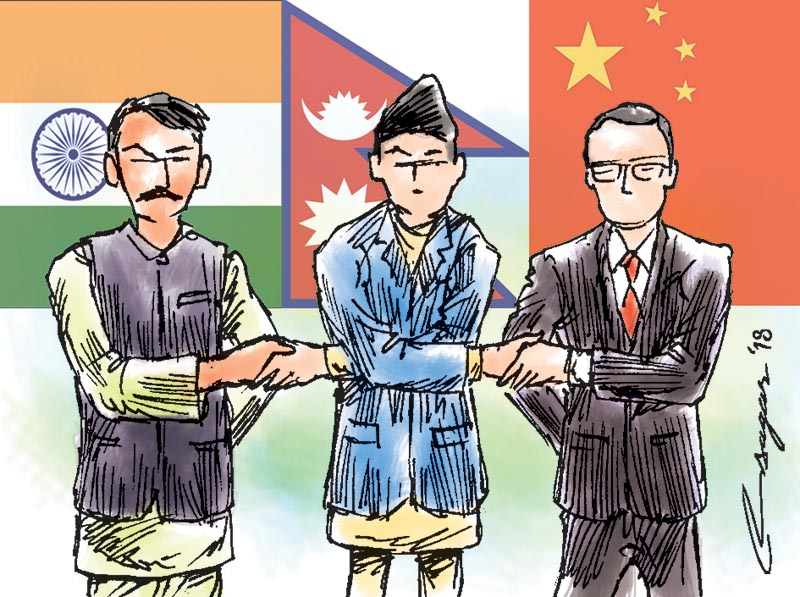 Nepal, India and China ties